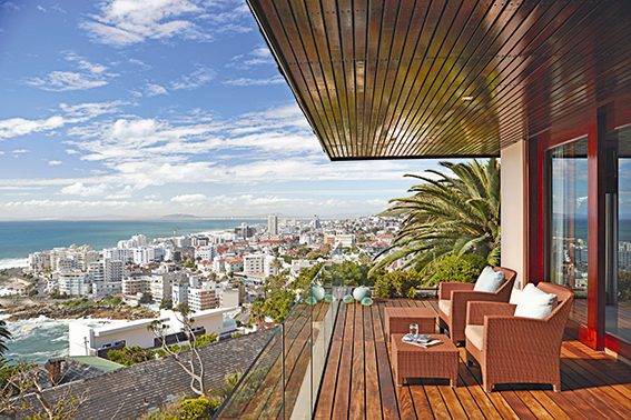 Imagem com a vista deslumbrante do hotel Ellerman House